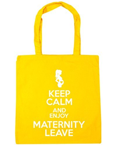 and litres Enjoy Calm Yellow Shopping 10 Gym Keep Tote 42cm Bag HippoWarehouse Beach Leave x38cm Maternity qwf6FxES
