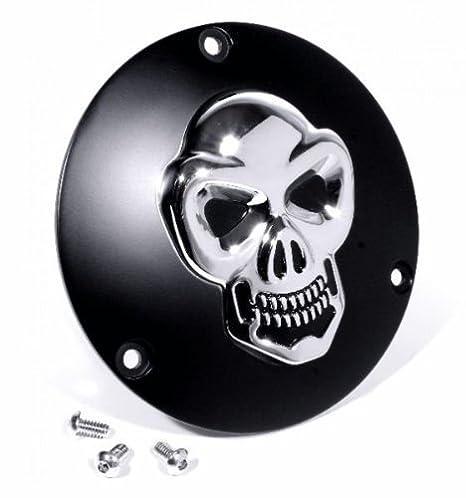 3d calavera Tapa Embrague Para Harley de 98 Evo Shovel Derby Cover: Amazon.es: Coche y moto