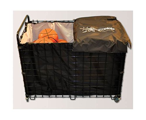 Cart with Antimicrobial Bag Full Liner in Black by Jaypro Sports