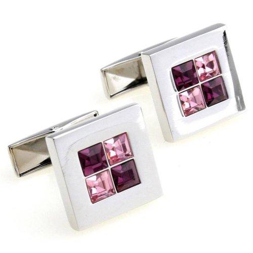 Crystal square cufflinks cuff nail xk156279