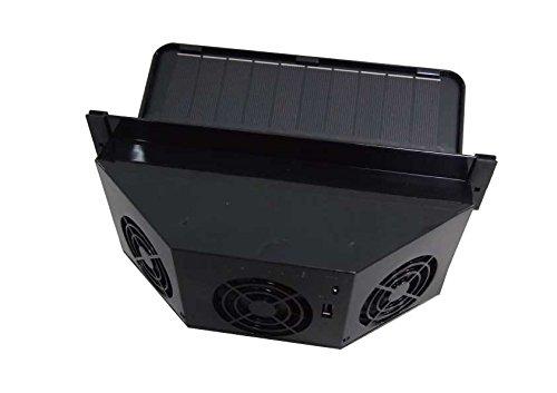 Kulcar 3 Solar Car Ventilator (Black ) (Car Fan Solar compare prices)