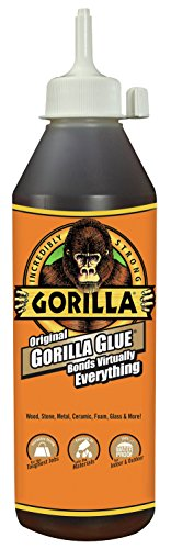 Gorilla Original Gorilla Glue, Waterproof Polyurethane Glue, 18 ounce Bottle, Brown from Gorilla