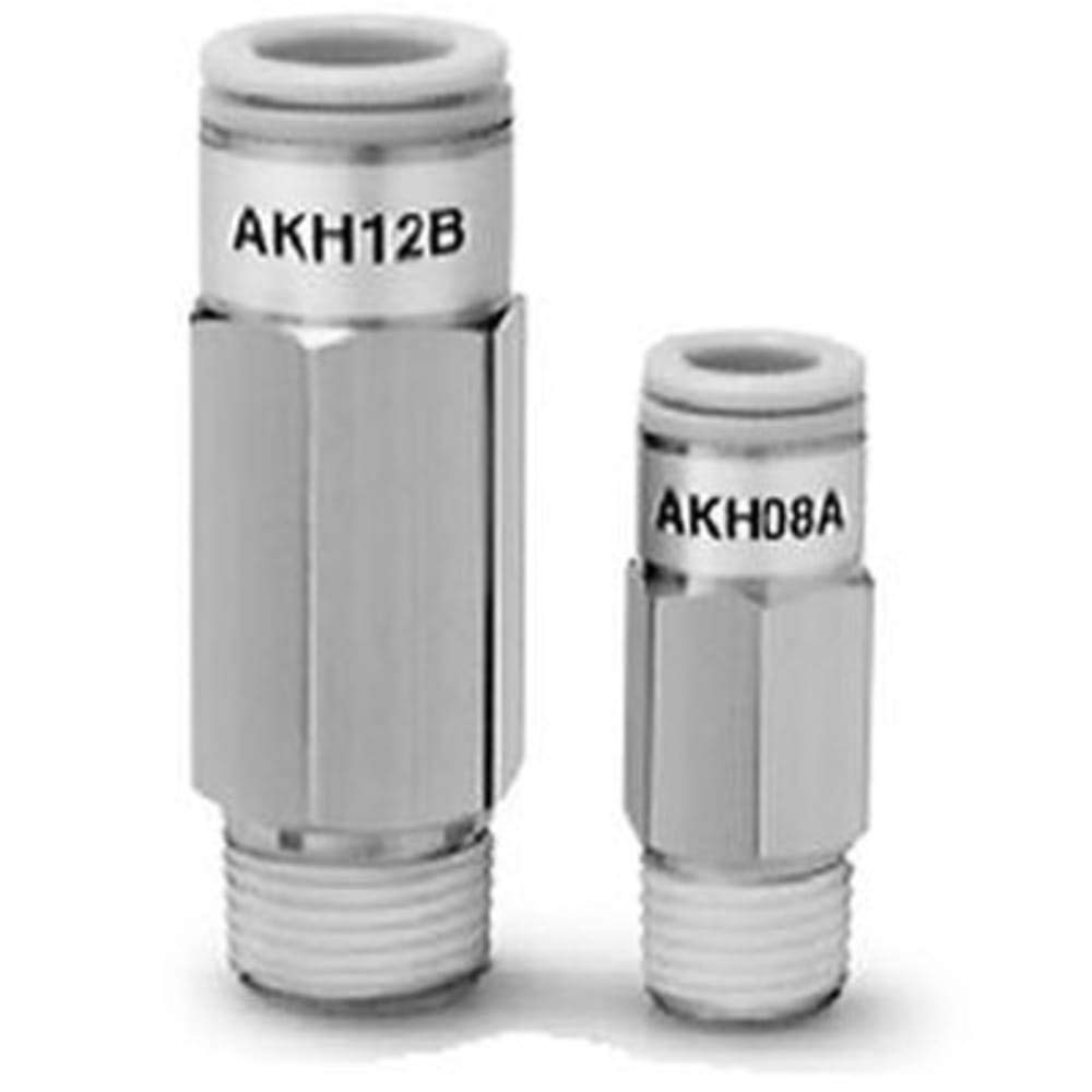 Check Valve; 1/4NPT Male to 1/4'' Tube Fitting, Pack of 2