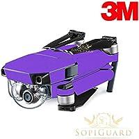 SopiGuard 3M Matte Purple Precision Edge-to-Edge Coverage Vinyl Skin Controller Battery Wrap for DJI Mavic Pro