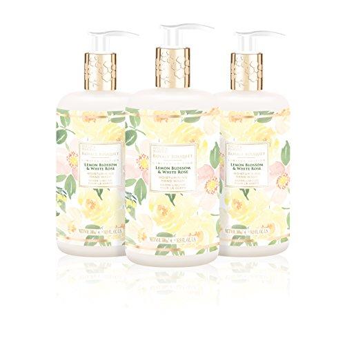 (Baylis & Harding Royale Bouquet Lemon Blossom & White Rose 500ml Bottle Hand Wash, Pack Of 3, 580 Gram)