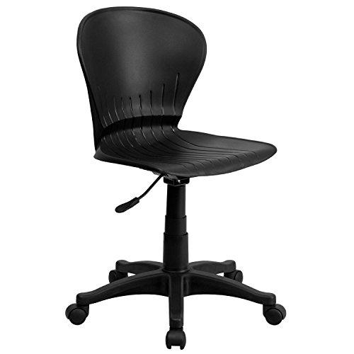 Flash Furniture Mid-Back Black Plastic Swivel Task Chair - RUT-A103-BK-GG (Plastic Chairs Sale)