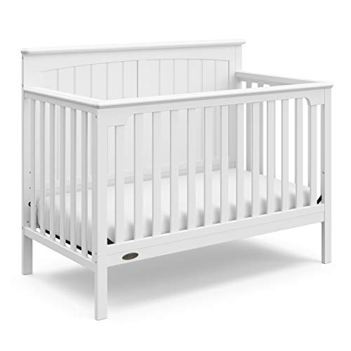 (Graco Ellis  4-in-1 Convertible Crib (White) - Easily Converts to Toddler Bed, Daybed, and Full-Size Bed, 3-Position Adjustable Mattress Support Base)