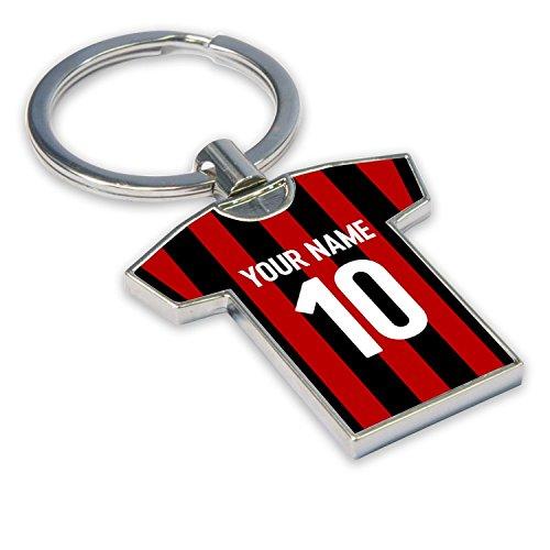 UKSoccershop Personalised AC Milan Key Ring