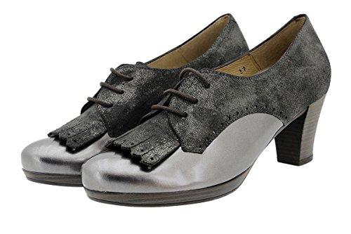 PieSanto Komfort Damenlederschuh 9308 Klettverschluss Schuh Bequem Breit AnticTaupe