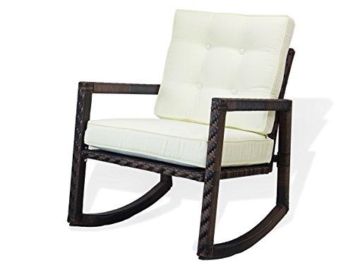 Resin Outdoor Garden Rocking Chair w/cushion Deck Yard Patio