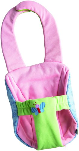 HABA Baby Carrier Luca - Machine Washable Sling Fits Soft Baby Dolls up to 15