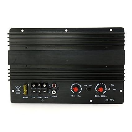 Junta módulo amplificador Digital eDealMax DC 12V de potencia de Audio estéreo Para el coche auto