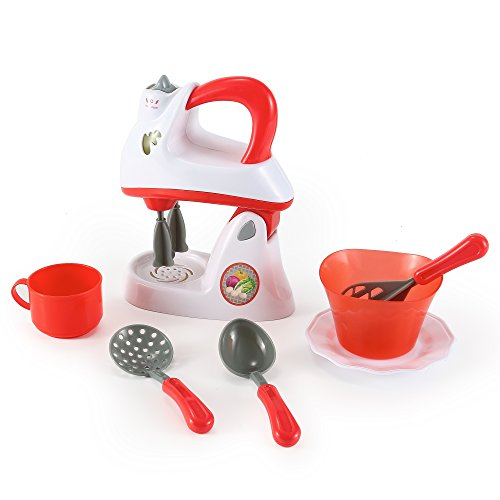 Little chef electronic toy mixer kitchen appliance set for Kitchen set node attributes