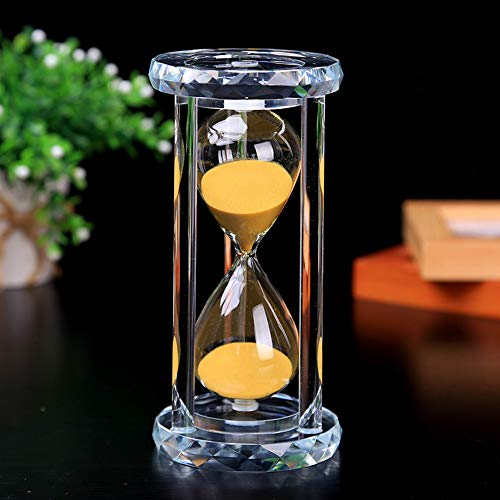 (30 Min Hourglass Sand Timer, Gold Crystal Sand Timer Egg Hourglass For Kitchen Child Brushing Teeth School Teaching)