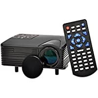 Multimedia LED Projector with VGA Port, HDMI, AV-IN from ExpressPanda | Mini Projector for Laptop Computers, Game Machines, DVD Players
