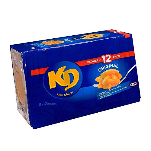 Kraft Dinner, Original Macaroni & Cheese 225g/7.6oz, 12ct, Imported from Canada} (Kraft Dinner From Canada)