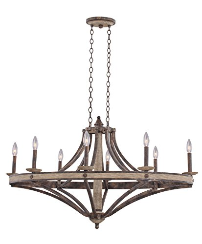 (Kalco 7048FG Coronado 8-Light Oval Chandelier, Florence Gold Finish )