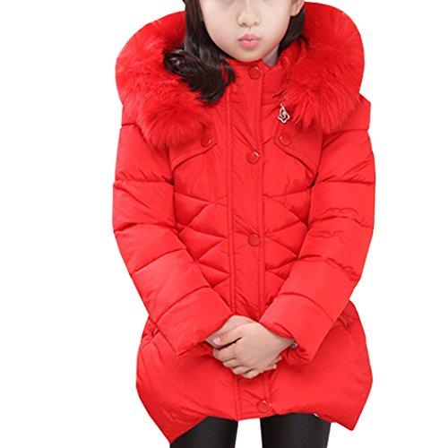 fe89c4f7b9965 AnKoee Little Girls Jacket Girls Kids Coat Windbreaker Outwear Warm Jackets  Outwear Winter Clothes for 3-12 Years Old - Buy Online in KSA.