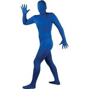 Skinz Lycra Spandex Full Bodysuit Festival Fancy Dress Blue Large (disfraz)