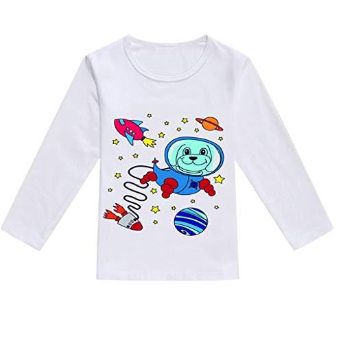 Clothful , Toddler Baby Kids Boys Girls Spring Cartoon Print Tops T-Shirt Casual Clothes Blue