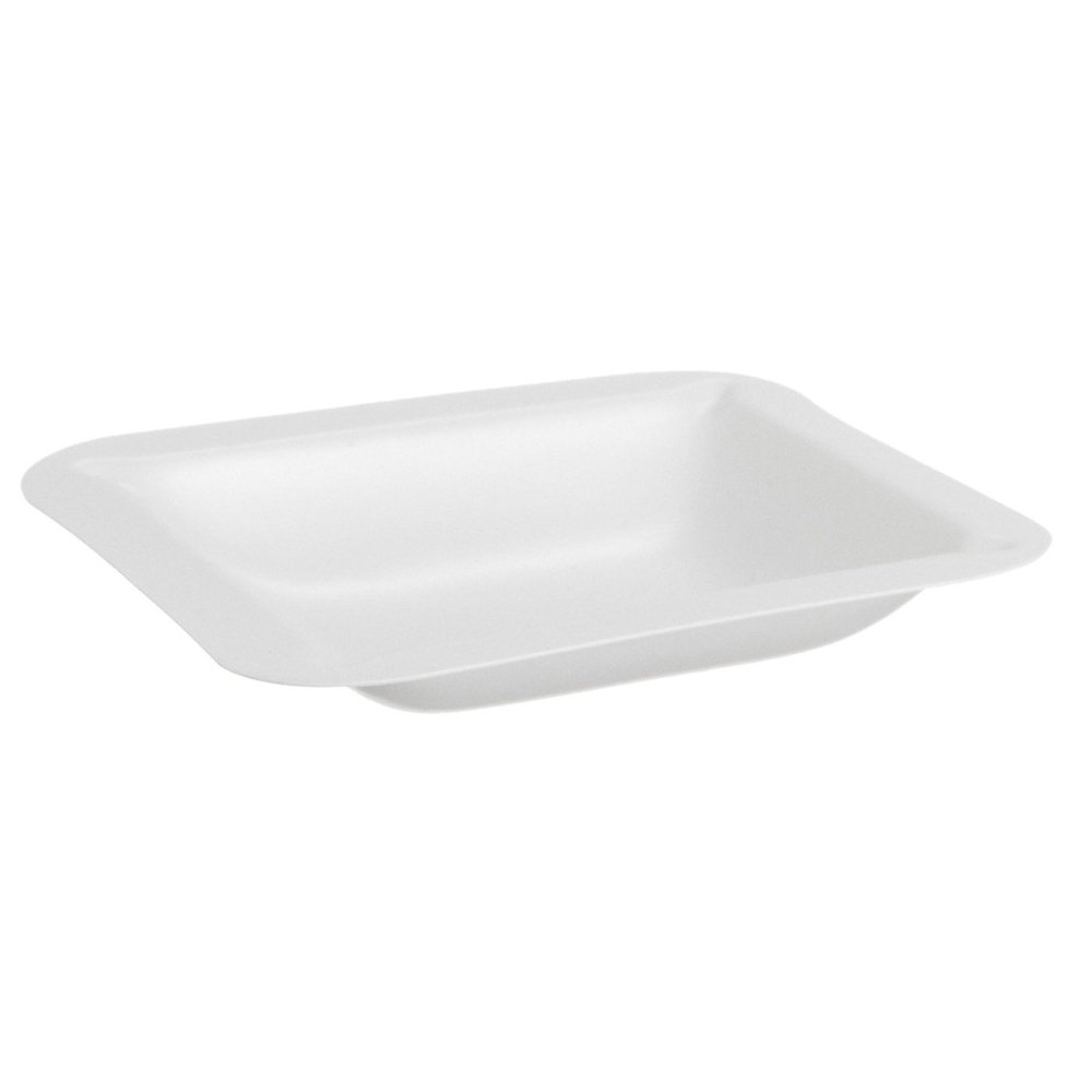 Dyn-A-Med 80055 Plastic Polystyrene Medium Weigh Boats/Weighing Dish, 3.3'' Length x 3.3'' Width x 0.75'' Height (Pack of 500) by Dyn-A-Med