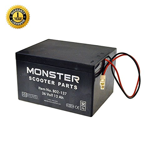Monster Motion 36 Volt Battery for Minimoto ATV, Go-Kart, Dune Buggy, Maxxi, & Motocross XRF500 by Monster Motion