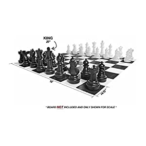 "Hammer Crown Giant Premium Plastic Individual Chess Piece (White; 25"" King)"