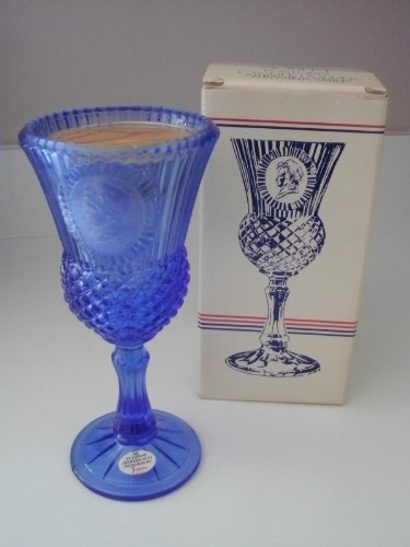 Avon (1976-77) The Martha Washington Goblet Fostoria Candle Holder with Floral Medley Perfumed Candle