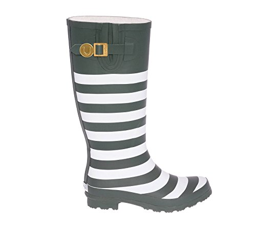 Rainboots Lh U Green Dark and White Lillybee XwzBqF
