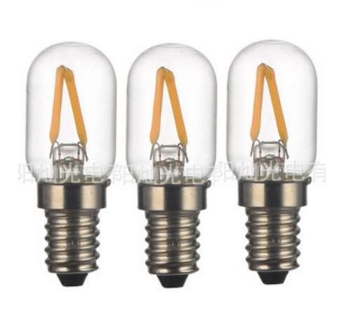 Euro Freezer - TRUST® 3-pack 2W Fridge LED Light Bulb European Base E14 LED Refrigerator Freezer Bulb T7/T26/C23 Euro Base E14 LED Halogen 25W Replacement Bulb (Warm White,2700K)