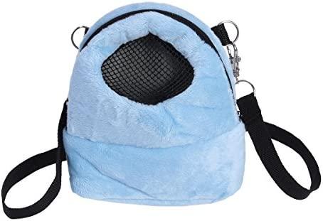 UEETEK Bolsas para Hamster Hamster Rata Conejo Erizo Bolsa de Viaje para Mascotas pequeñas tamaño S (azul)