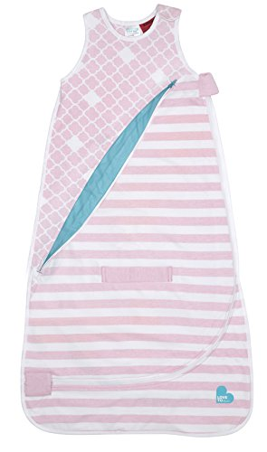 Love To Dream Inventa Sleep Bag/Wearable Blanket with Unique Vented Cooling System, Luxurious Super-Soft Cotton, Stylish Fashion Design, 1.0 TOG, 4-12 Months, Light Pink by Love to Dream (Image #1)'