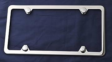 Amazon.com: Marco para placa de acero inoxidable, estilo ...