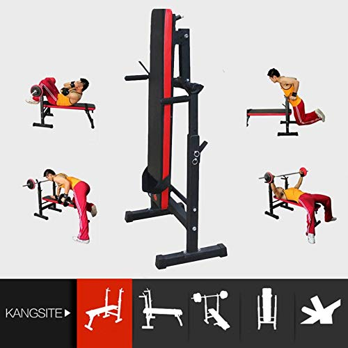 FGHGFCFFGH Heavy Duty Gym Shoulder Chest Press Sit Up Weights Bench Barbell Fitness Full Body Workout Exercise Equipment