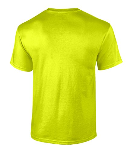 Men 39 s high visibility safety work t shirt 100 heavyweight for Usa made work shirts