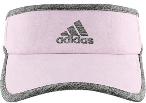 adidas Women's Superlite Performance Visor, Aero Pink/Light Heather Grey, One Size