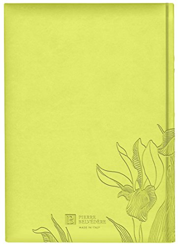 Iris Collection Large Hardcover Notebook with Padded Embossed Cover, Chartreuse (7706330) Photo #2