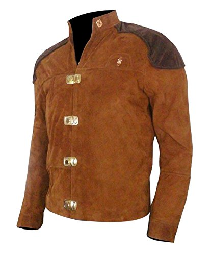 Battlestar Galactica Viper Pilot (Leather Trends Warriors Viper Pilot Battlestar Galactica Brown Suede Jacket-Lowest Price Jacket (Brown, 2XL))