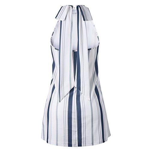 Ilangareee stile spalle Blu Abito spalla estivo con scoperte vintage donna a rTrqg