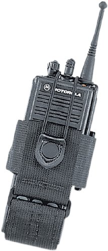Uncle Mike's Kodra Duty Nylon Web Universal Radio Case with Swivel Belt Loop, Black by Uncle Mike's