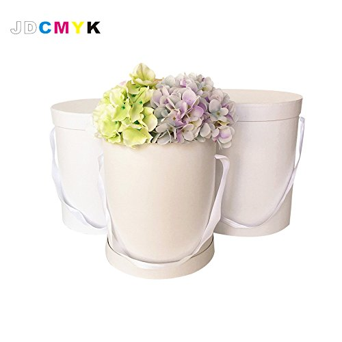 six color choose 3PCS/set good quanlity flowers box round box ,Pure color without printing,cardboard boxes party gift packing (Round Cardboard Boxes)