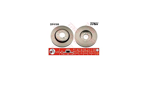 TRW DF4166 Rotores de Discos de Frenos