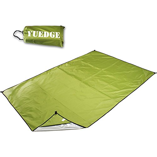 Camping Tarp – YUEDGE Mutifunctional Tent Footprint, Waterproof Picnic Mat, Groundsheet, Sunshade For Camping Hiking Backpacking Picnic