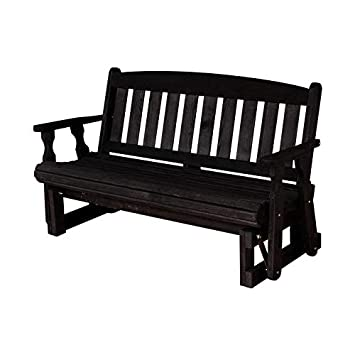 CAF Amish Heavy Duty 800 Lb Mission Pressure Treated Porch Glider 4 Foot, Semi-Solid Black Stain