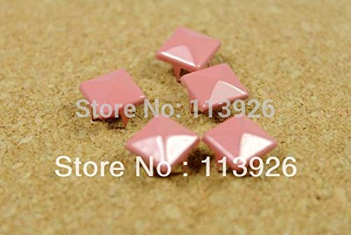 Garment Rivet - Cheap Metal Rivets for Wholesale&Retail!Pink Painted Rivets 4 Claw Punk DIY Accessories for Shoes Clothing