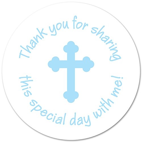 - 40 Cross Thank You Favor Stickers 2