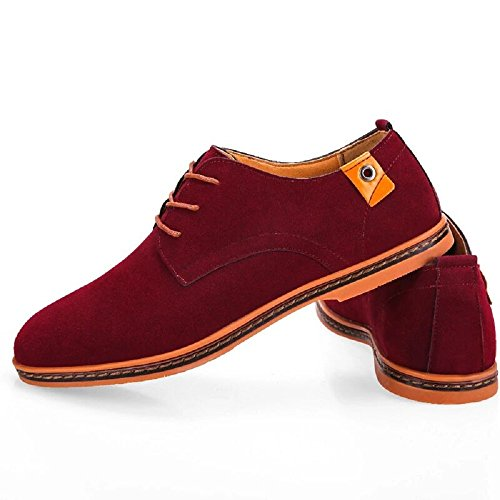 Derby Lederschuhe Wildleder Herren 38 Oxford Braun Anzugschuhe Schwarz Leder Schuhe Rot Elegant Anzug Hochzeit 48 Business Männer Schnürhalbschuhe 4qPqtz