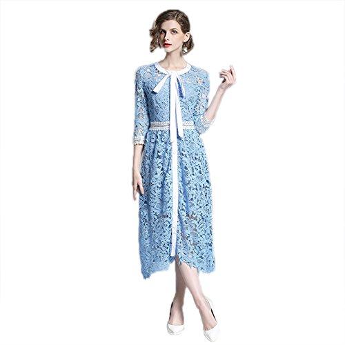 Cotiledone Women`s Veste Solido Wist Colore 4 Girocollo Manicotto Di Vestito 3 Il Di Alta SdARqda