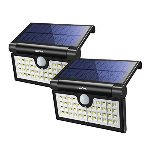 (LITOM Foldable 42 LED Solar Lights Outdoor, Motion Sensor Solar Lights, Super Bright Waterproof Solar Portable Motion Sensor Lights for Front Door, Backyard, Garage, Porch(2 Pack))