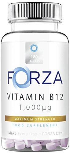 FORZA Vitamina B12 Comprimidos - Metilcobalamina 1000mcg - 180 Tabletas